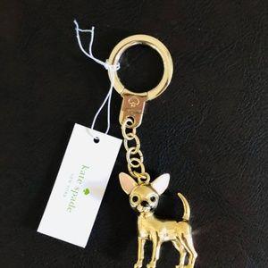 NWT Kate Spade chihuahua dog keychain